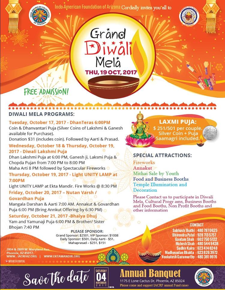 Ekta-Mandir-DiwaliMela-Flyer
