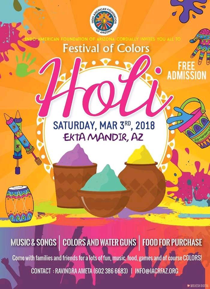 Calendar Holi : Iacrfaz holi celebrations in indo american
